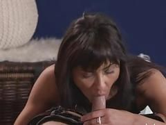 MOM Feisty MILF creampied in lingerie and heels