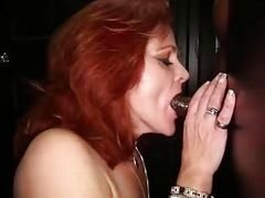 Gloryhole Secrets Redhead Gilf swallows strangers cum