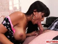 Big hooters mother I´d like to fuck giving head with cum shot