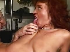Brunette Office MILF In Sexy Stockings Fucked