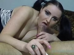 Great smoking blowjob