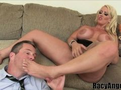 Femdom and Butt Worship with PAWG blonde Alura Jenson and  aj applegate