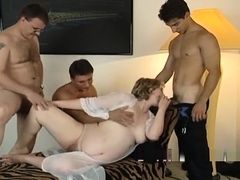 Horny Guys Banging Pregnant Milf