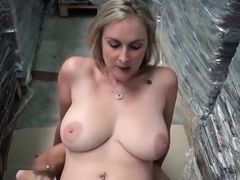 Beauteous buxomy mature female is pounded in the ass outside