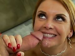 Mature blonde got cum in mouth