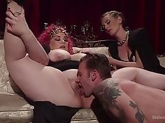 Disobedient mistress uses the horny slave