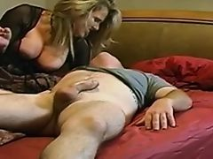 Mom with big breast and its guy