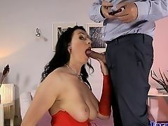 British milf in stockings is assfucked