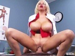 Surprising milf Holly Brooks sucking and fucking with young guy
