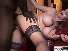 Huge Black fucks ripe babe with huge hooters