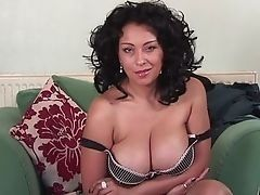 European mature with huge breast could use cock