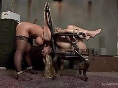 BDSM with dissolute busty blondes