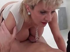 Lady Sonia lucky Twitter follower gets cock massage and blowjob