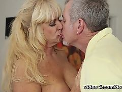 Horny pornstars in Fabulous Blonde, Stockings sex clip