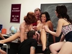 Hot group sex video with amoral whores