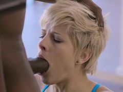 Fit body gym wife sucking off her black coach while her hubby is away