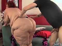 Guy fucks fat woman with huge ass