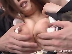 Asian milf who is pursued on public