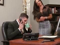Posh skilled secretary Elicia Solis tempted young boss