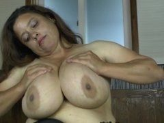 Porn clip of mature Latin American with big tits