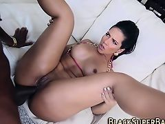 Latin American ass was fucked by big black dick