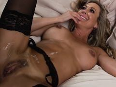 Mature Brandi Love taking showers after sex