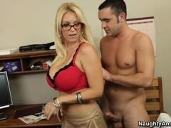 Lesson of oral sex with my hot blond teacher