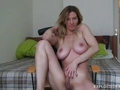 Blond bitch with big breast is ready to fuck