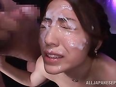 She receives each drop of cum