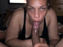 DeepThroating this BBC Adorably Til it cums on her Face