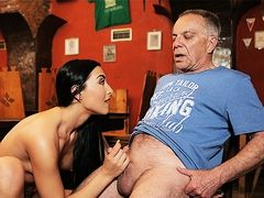 DADDY4K. Angry guy catches old dad having sex his good...